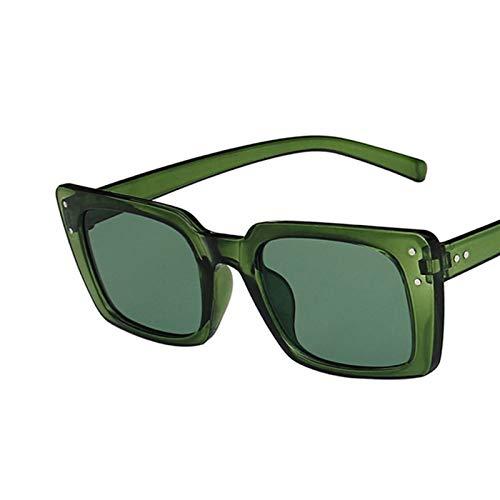 SCAYK Rectángulo de Moda Mujeres Gafas de Sol de Moda Sombras de Moda para Damas Plaza Gafas de Sol Mujer UV400 2021 Gafas de Sol Gafas de Ojos Moda Gafas de Sol (Lenses Color : C4 Green)