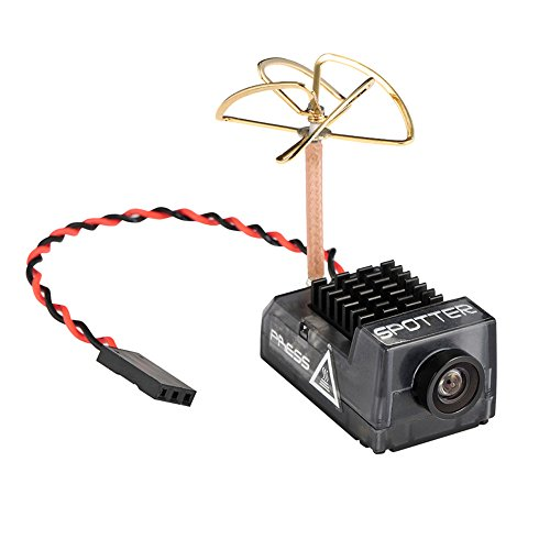 Crazepony Spotter V2 Micro FPV AIO Camera 5.8G with OSD Integrated Mic FOV170 Degree 700TVL Video Transmitter 40CH 20MW-200MW Adjustable VTX for Mini FPV RC Drone