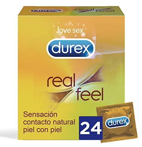 Durex Preservativos Real Feel 24 Condones Sensitivos sin Latex
