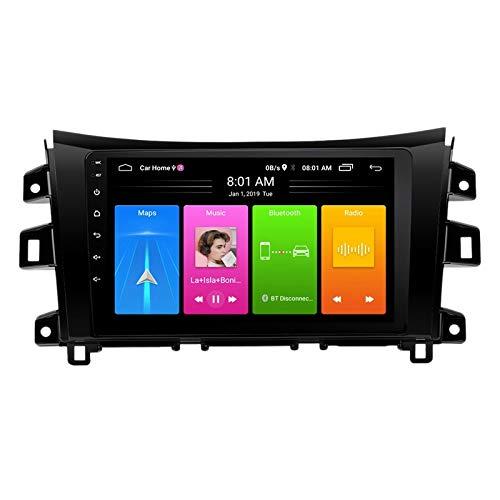 Nrpfell 9 Pulgadas 2 DIN Android 10.0 Coche MP5 Reproductor Radio 2 + 16GB WiFi NavegacióN GPS para Navara NP300 2016-2018