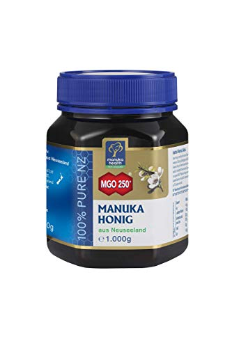 Manuka Health - Manuka Honig MGO 250 + 1Kg - 100% Pur aus Neuseeland mit zertifiziertem Methylglyoxal Gehalt