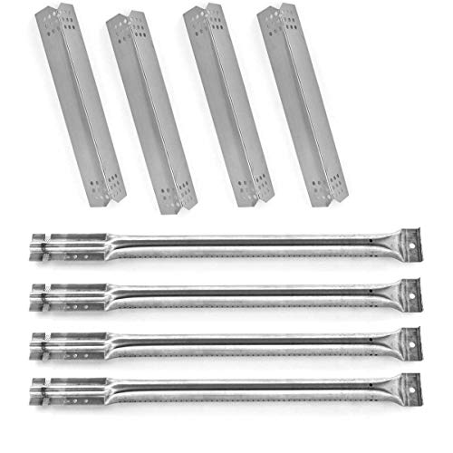 Grill Parts Gallery Replacement Kit for Kitchen Aid 720-0733A Jenn-Air 720-0336C, 720-0709, 720-0709B, 720-0720, 730-0336C, 740-0711, 740-0712 Gas Models Includes 4 Burners & 4 Heat Plates