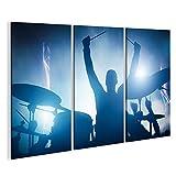 islandburner Bild Bilder auf Leinwand Schlagzeuger spielt