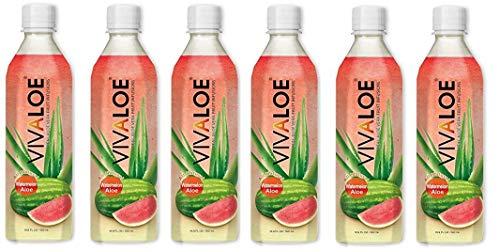 6 confezioni di Energy Drink VIVALOE 100% all'Anguria Aloe Naturale 50cl 11 KCal