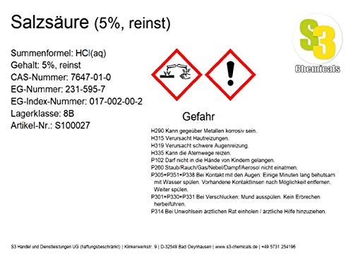 Salzsäure (5%, reinst) Gebindegröße 1 Liter