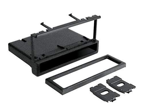 Scosche FD1327B Compatible with 1995-07 Ford / Lincoln / Mercury / Mazda DIN w/Molded Pocket Dash Kit Black