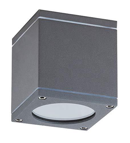 Akron buitenplafondlamp lichtladen industrieel design aluminium/glas antraciet grijs buitenlamp plafondlamp GU10 35W