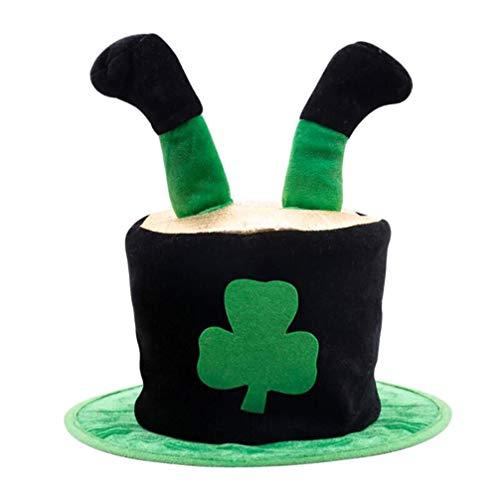 Amosfun Sombrero de Copa Del Día de San Patricio Sombrero Irlandés Irlanda Traje de Día de San Patricio Accesorio Gorro de Peluche