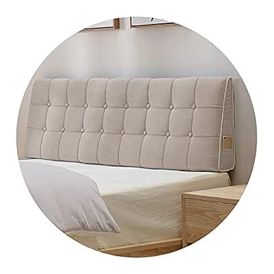 ☻Materiales: la funda está hecha de lino de alta calidad que no solo brinda comodidad, sino también moda para su hogar. ☻El cojín de respaldo versátil es ideal para todos los demás tamaños de cama, así como también para un sofá y varios muebles de pa...