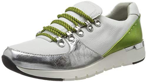 Caprice Damen Kaia Sneaker, Weiß (White/Lime 170), 38 EU