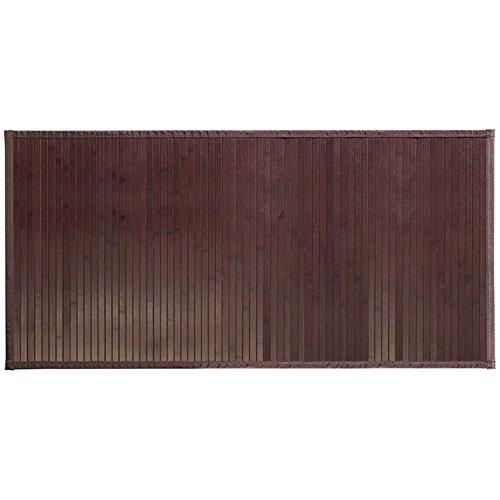 InterDesign Formbu Bamboo Tappetino Bagno, Bambú, Marrone (Mocha), 61 x 122 cm