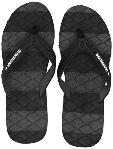 Quiksilver Men's Massage Sandal, Black/Grey, 9(42) M US