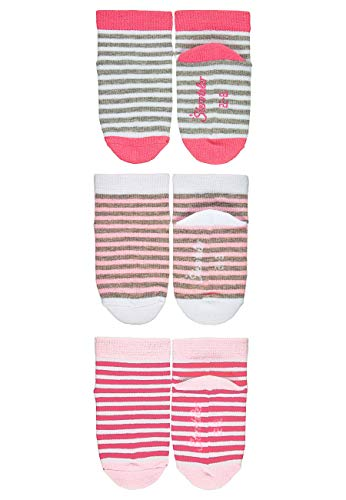 Sterntaler Baby-Mädchen Sneaker-Söckchen, Ringel, 3er-Pack Socken, Rosa, 23-26