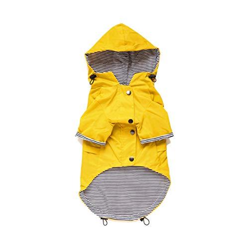 ZP-MIN Ropa de perro PET para cachorro a prueba de viento perro chaqueta lluvia impermeable perro deportes chaqueta con capucha