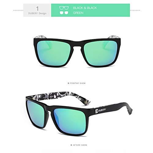 Burenqi Gafas de Sol Deportivas polarizadas para Hombres Gafas de Sol cuadradas para Exterior Diseño de Verano UV400