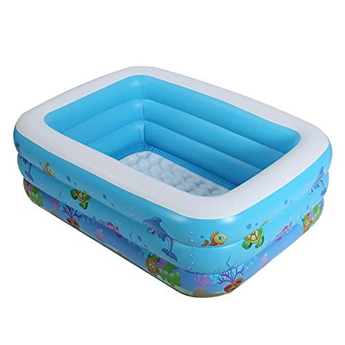 yahede Kinderbadje opblaasbaar familiezwembad voor zomerkinderen met extra brede zijwanden. Lovable