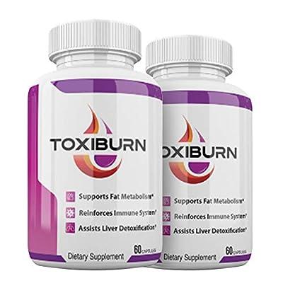 Toxiburn Pills - Toxiburn Weight Loss Pills - Toxiburn Liver Cleanse - Toxiburn Diet Capsules (120 Pills - 2 Month Supply)