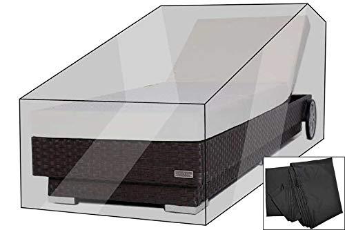 OUTFLEXX Premium Abdeckhaube für Sonnenliege: 200x80cm, schwarz, wasserbeständig