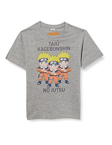 cotton division BONARUTTS001 T-Shirt, Gris Melange, 12 Ans Garçon