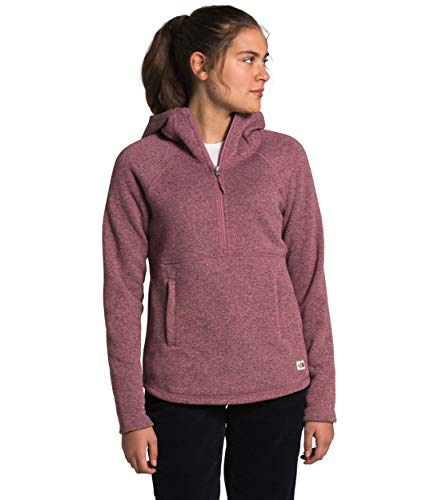 The North Face Women's Crescent Hooded Pullover, Mesa Rose Dark Heather, S
