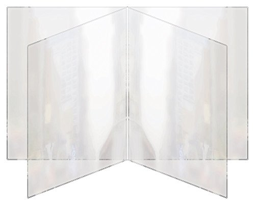 "RABCO Products, Inc 400 8.5x11 All Clear Heat Sealed Vinyl Menu Cover Quad Pocket 8 View, 8.5"" x 11"" (Pack of 24)"
