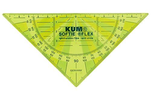 KUM AZ208.13.19-G Geomentriedreieck 262 Softie Flex G, flexibles Material, 1 Stück, 16 cm, grün