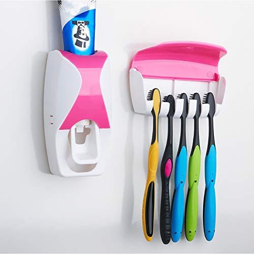 Y-toothpaste tool Das Badezimmer Ist Bequem Und Schnell Und Der Zahnpasta Zahnbürstenhalter Ist Robust Und Nahtlos. (Color : Pink)
