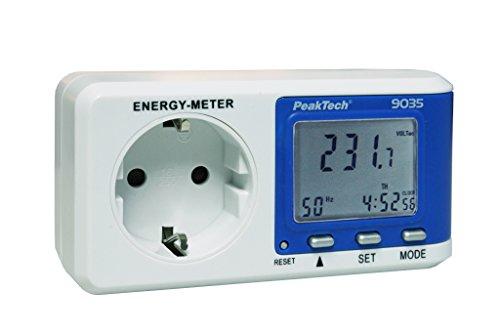 PeakTech Energiekostenmessgerät 0,1W Auflösung mit Leistungsfaktorberechnung, 1 Stück, P 9035
