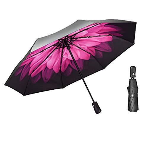 LLYS026 Vollautomatischer Doppelschirm Dicker Faltbarer Winddichter Regenschirm, Wasserdichter Doppelschirm Für Herren Und Damen