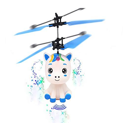 NANE Helicóptero de inducción, Mini avión de inducción, helicóptero de Juguete Volador USB, Juguetes para niños y niñas
