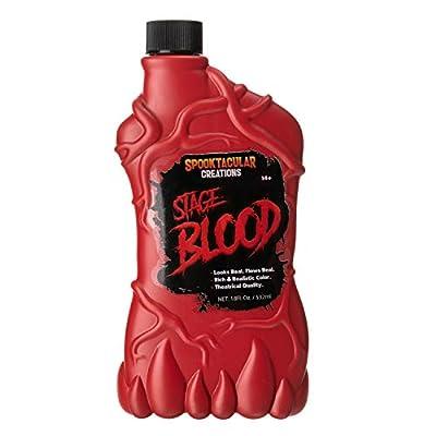 Spooktacular Creations 18 oz Fake Halloween Vampire Blood Bottle for Halloween Costume, Zombie, Vampire and Monster Makeup & Dress Up from Joyin Inc.