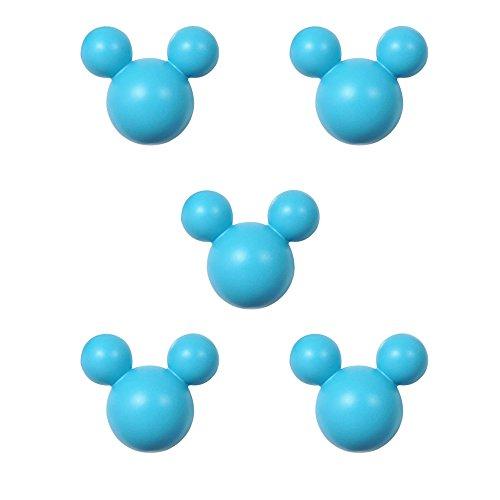 アルファタカバ ディズニー ミッキー取っ手シリーズ ツマミつまみ 5個セット ブルー