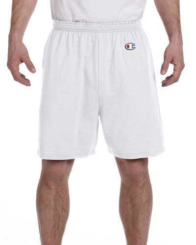 Champion Men's 6-Inch Silver Grey Cotton Jersey Shorts - X-Large