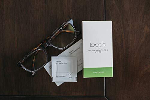413zyopdkGL - Loocid Anti Fog Wipes for Glasses (30 Count) - Lens Cleaner Wipes for Eyeglasses, Goggles, Face Shields, Cameras, Screens, Phones - Pre-Moistened and Individually Wrapped Eye Glass Cleaning Wipes Kit