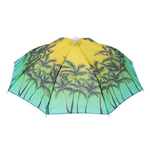 Opvouwbare Paraplu Paraplu Vissen Wandelen Strand Camping Hoofddeksels Hoofd Paraplu Outdoor Hoed Caps