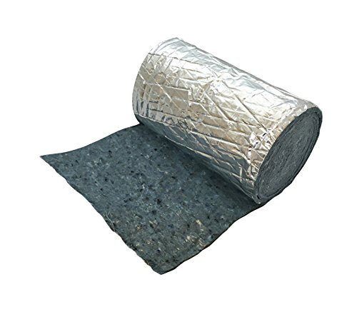 """Frost King CF55 Foil Backed """"No Itch"""" Natural Cotton Duct Wrap, 12-Inch x 1-Inch x 15-Feet"""