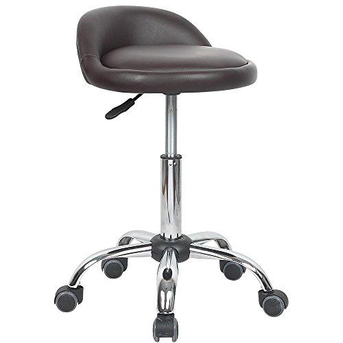 Modern Home Juno Adjustable Height Massage Stool w/Wheels