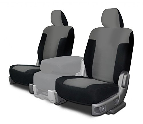 CarsCover Custom Fit 2009-2014 Ford F150 F250 F350 Pickup Truck Neoprene Car Front Seat Covers Gray & Black Sides Driver & Passenger Cover