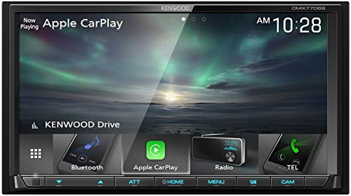 Kenwood DMX7706S 6.95' Double DIN Digital Multimedia Receiver with Bluetooth (does not play CDs) | Apple CarPlay & Android Auto Ready