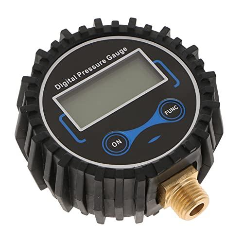 MHXY Accesorios de neumáticos Inflador de neumático Digital medidor de presión, 200 PSI l-e-d Pantalla Negra Práctico y Conveniente