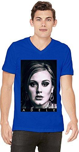Adele Portrait Photo Famous Merchandise Mens V-neck T-shirt XX-Large