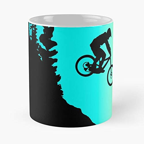 Mtb Rider Enduro Bike Ride Bmx Bicycle Mountain Best Mug holds hand 11oz made from marble ceramic