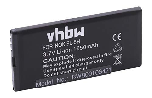 vhbw Li-Ion Akku 1650mAh (3.7V) passend für Handy Smartphone Telefon Microsoft/Nokia Lumia 630, 630 Dual SIM, 635, 636, 638