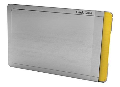 CardTresor Note Kartenschutzhülle mit Randbeschriftung EC-Karte, RFID/NFC-Schutz