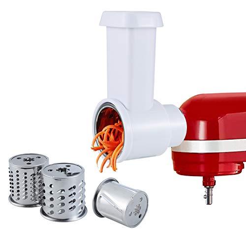 Gdrtwwh - Trituradora de trituradora para mezclador de soporte KitchenAid, cortador de queso rallador de verduras