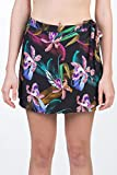 Hurley W Printed Wrap Skirt Falda, Mujer, Black/(Black), M