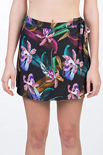 Hurley W Printed Wrap Skirt Falda, Mujer, Black/(Black), L