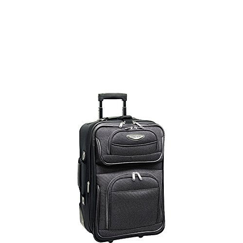 """Travel Select Amsterdam 21"""" Expandable Rolling Carry On in Grey"""