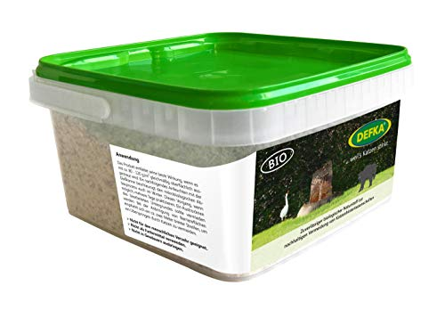 DEFKA 1,0 kg Zuverlässiger biologischer Naturstoff zur nachhaltigen Vermeidung von Katzenhinterlassenschaften - Katzenabwehr - Katzenschreck.