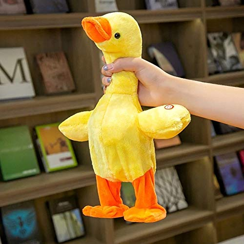 Electronic Duck Plush Toy,The Talking Singing Walking Stuffed Animal Duck, Interactive Gift for Kids 15.7?